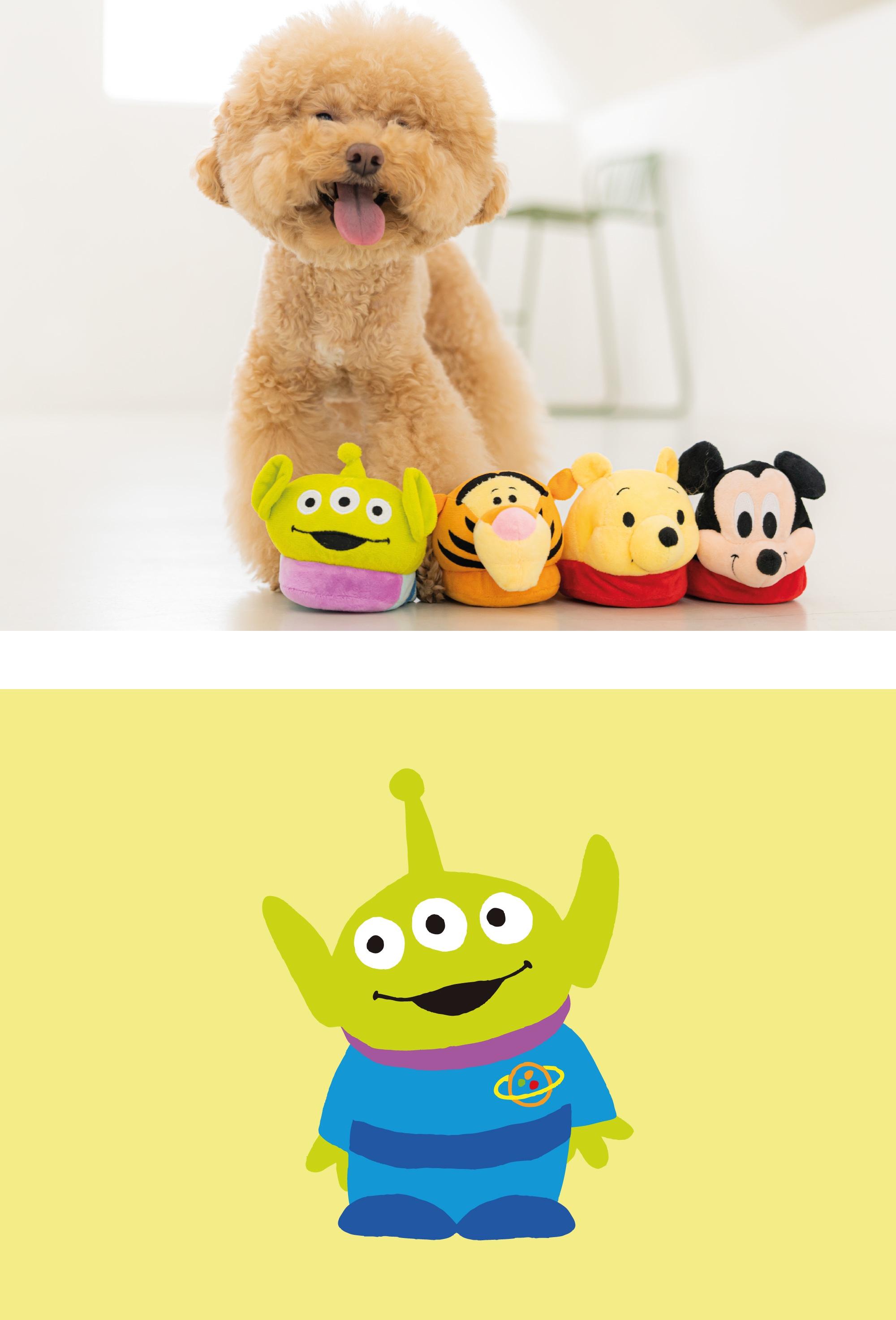 댄 토이스토리 슬리퍼 장난감 에일리언-상품이미지-2